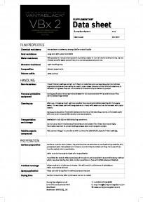 Vantablack VBx2 – supplementary data sheet