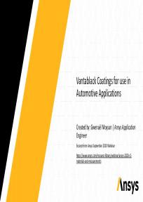 Ansys Vantablack Simulations for Automotive Sensing
